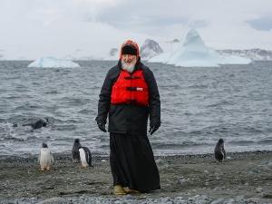 Патриарх Кирилл, Антарктида, пингвин, видео