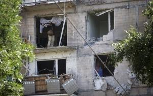 Донецк, обстрел, районы, попадание