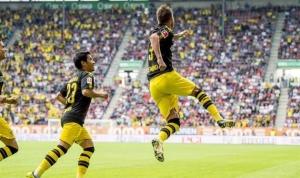 Германия, футбол, Боруссия Дортмунд, Ярмоленко, дебютный гол, Боруссия-Аугсбург, общество, кадры, видео