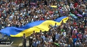 папа римский, ватикан, молитва, паломничество, украинцы, флаг украины, фото, новости украины