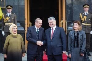 Украина, визит Эрдогана в Киев, Порошенко, Эрдоган, переговоры, Крым, аннексия, политика, общество