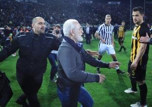 греция, футбол, саввиди, криминал, скандал, нападение, полиция
