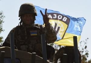 полк Азов, остановили наступление, нехватка топлива, ВСУ, АТО