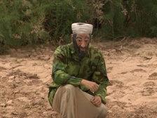 Усама бен Ладен, граница, костюм, река, незамечен