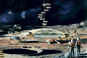Луна, база, лавовые трубки, космос, наука, техника, ученые, вулкан