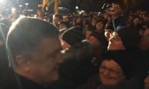 порошенко, ковель, видео, президент украины, рейтинг порошенко