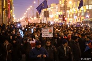 беларусь, минск, статкевич, митинг, оппозиция, закон, тунеядство, права человека