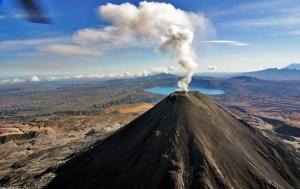 россия, камчатка, вулканы, выброс пепла