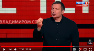 Россия Соловьев ток шоу скандал видео