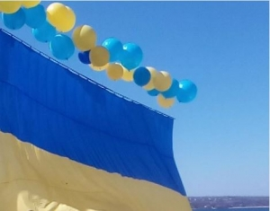флаг украины, листовки, донбасс, ато, горловка, донецк, днр, террористы