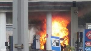 Киев, Бровары, Украина, АЗС, заправка, пожар, происшествия, криминал