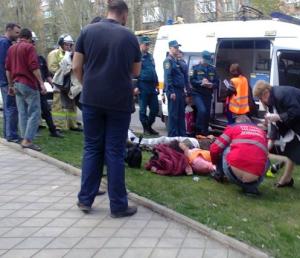 дтп, донецк, авария, трамваи, жертвы аварии, фото, украина