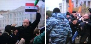 сепаратист рогов, митинг в москве, избиение, новороссия, общество
