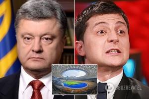 новости, выборы президента 2019, Украина, Зеленский, Порошенко, дебаты, стадион, Олимпийский