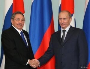 Путин, Куба, 9 мая, День Победы, Кастро, политика