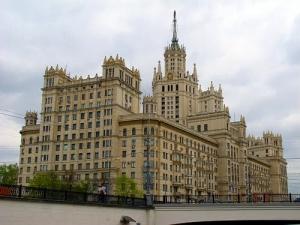Котельническая набережная, Москва, происшествия, флаг Украины, МВД России