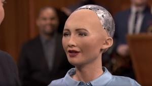 Робот София, гуманоид, гражданство Саудовской Аравии,Одри Хепберн