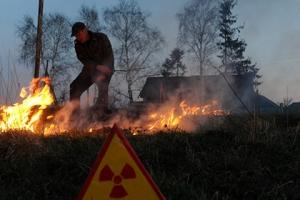 пожар, чернобыль, тушение