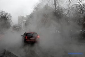 новости, Украина, Киев, происшествие, прорыв трубы, Деловая, центр, видео, кадры, затопило улицу, горячая вода
