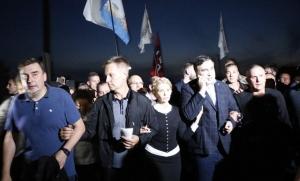 саакашвили, политика, общество, граница, прорыв, политика