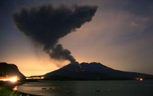 япония, вулкан, симмоэ, извержение вулкана