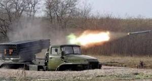 Донецк, аэропорт, бои, АТО, силовики, ДНР, огневые позиции, Град, обстрел