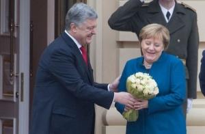 встреча, украина, киев, меркель, порошенко, киев, визит, россия, агрессия, санкции