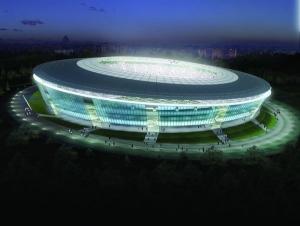 донбасс арена, стадион, повреждения, донецк