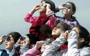 солнечное затмение, фильтр, бумага, очки, глаза, зрение, защита