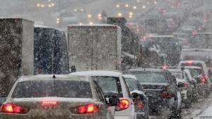 одесса, транспорт, снегопад