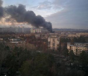 киев, происшествия, общество, пожар, сто