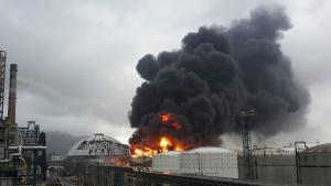китай, новости, взрыв, завод, химия, выброс, дым