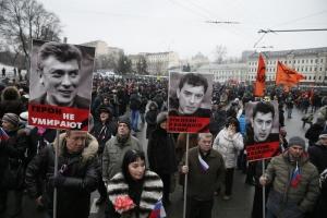 новости, общество, годовщина, борис немцов, москва, убийство, киев, майдан, память, вечер, украина, россия, оппозиция