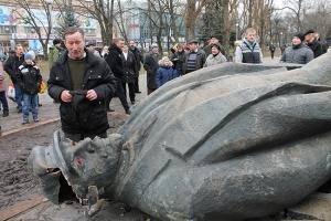 Запорожье, активисты, Ленин, свалить, памятник, листовки, призыв