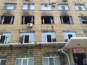 ОБСЕ, Донецк, обстрел, артиллерия, госпиталь, стекла, уничтожение