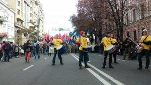 Киев, марш героев, мвд украины, взрыв