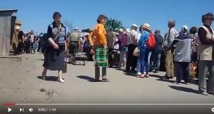 кпп, станица луганская, очереди, пенсионеры, донбасс, луганск, лнр, блокпост