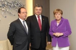 Порошенко, Меркель, Олланд, Контактная группа, Минские переговоры, Донбасс, восток Украины, политика, Украина, ДНР, ЛНР