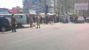 дтп, мелитополь, рижский рынок, погибшие, уаз военных, происшествия, украина