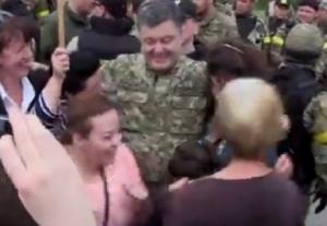 Порошенко, Славянск, встреча, бомбежка, мирные жители