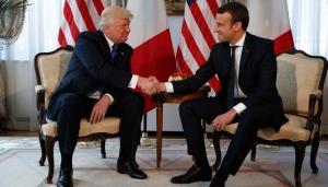 Трамп, Макрон, Франция, США, политика, общество, встреча, российско-украинский конфликт