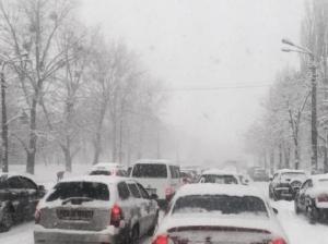 киев, снегопад, пробки, дтп