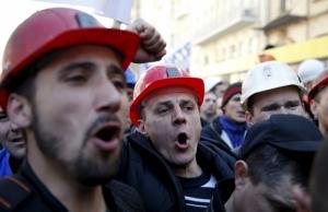 украина, порошенко, киев, шахтеры, крещатик, митинг, пикет, общество