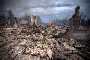 станица луганская, обстрел, дома, повреждения