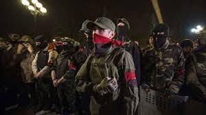 Милиция, Правый сектор, ГАИ, оружие, товарищи, Запорожье, освободили
