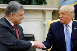 Порошенко, Трамп, Макрон, США, Украина, Франция, президенты, новости, общество, видео, СМИ, рукопожатие
