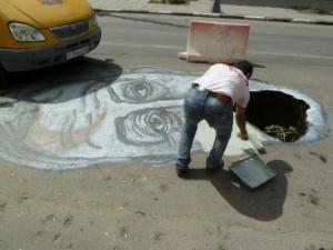 саратов, карикатура на губернатора, карикатура на плохие дороги