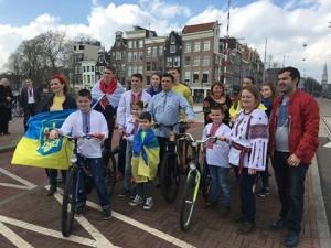 новости, Климкин, МИД Украины, Амстердам, флешмоб, велосипед