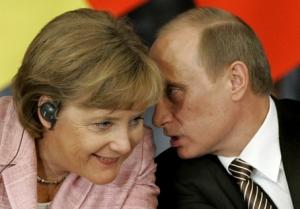 меркель, путин, россия, германия, эбола, газ, украина