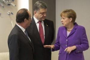 меркель, олланд, порошенко, переговоры